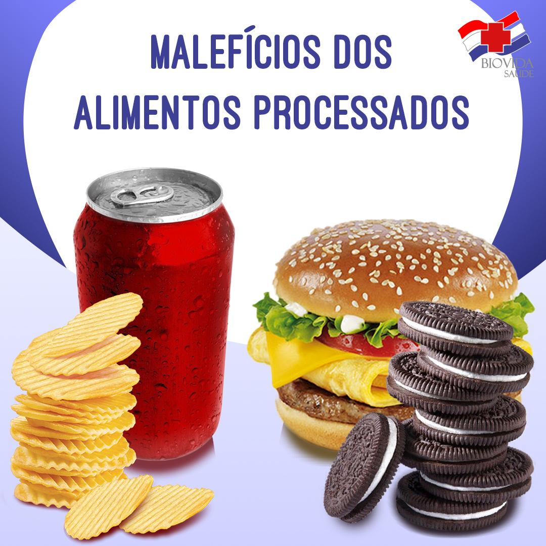 Malefícios dos alimentos processados