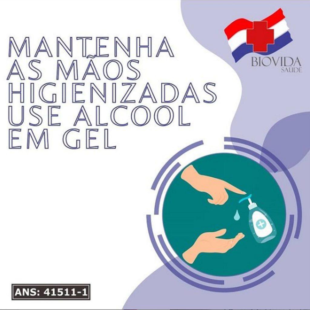 Mantenha as mãos higienizadas