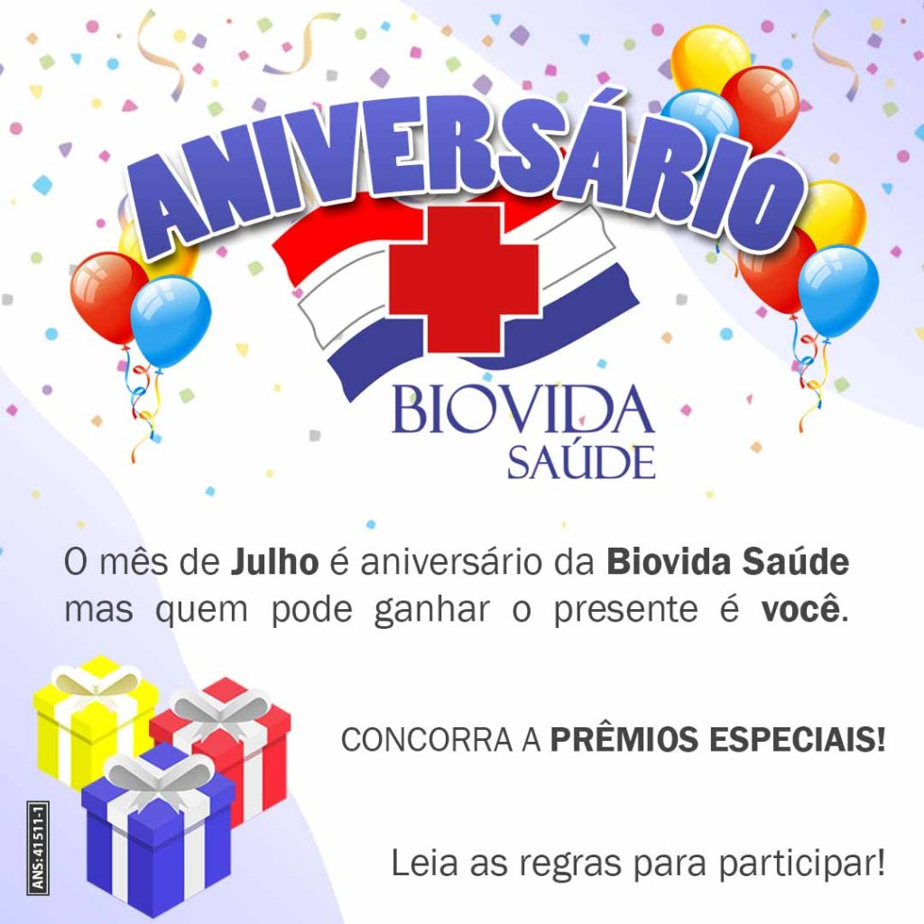 Aniversário Biovida Saúde!