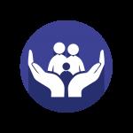 ícone acolher você e sua família